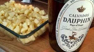 Apple-Crumble mit Calvados