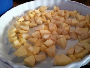 Geschnippelter Apfel und Birne