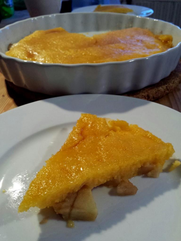 Apfel-Birne-Polenta-Küchchen