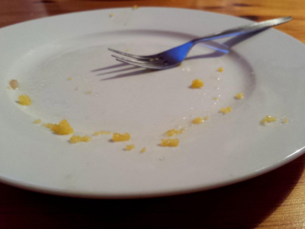 Es war lecker, das Apfel-Birne-Polenta-Küchchen