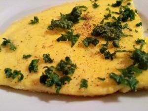 Omelette aus Enteneiern