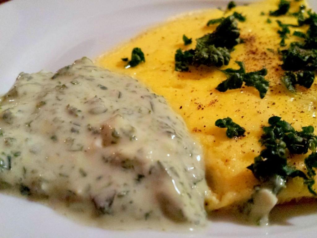 Omelette aus Enteneiern mit Grüner Soße