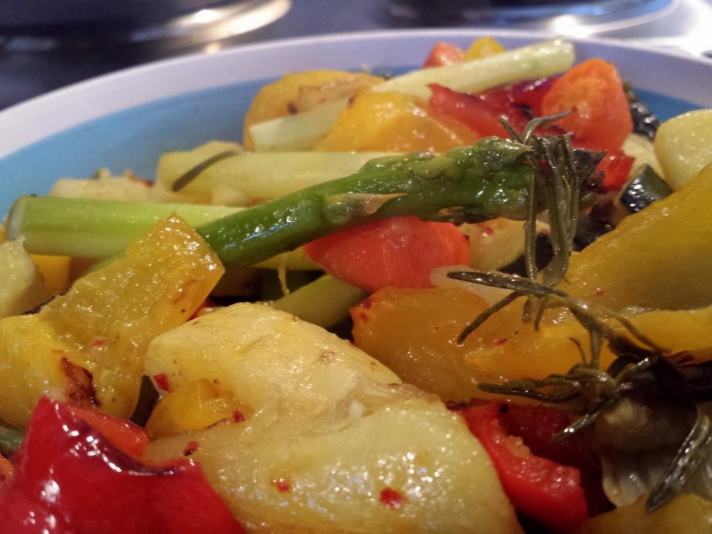 Gemüse, frisch aus dem Ofen