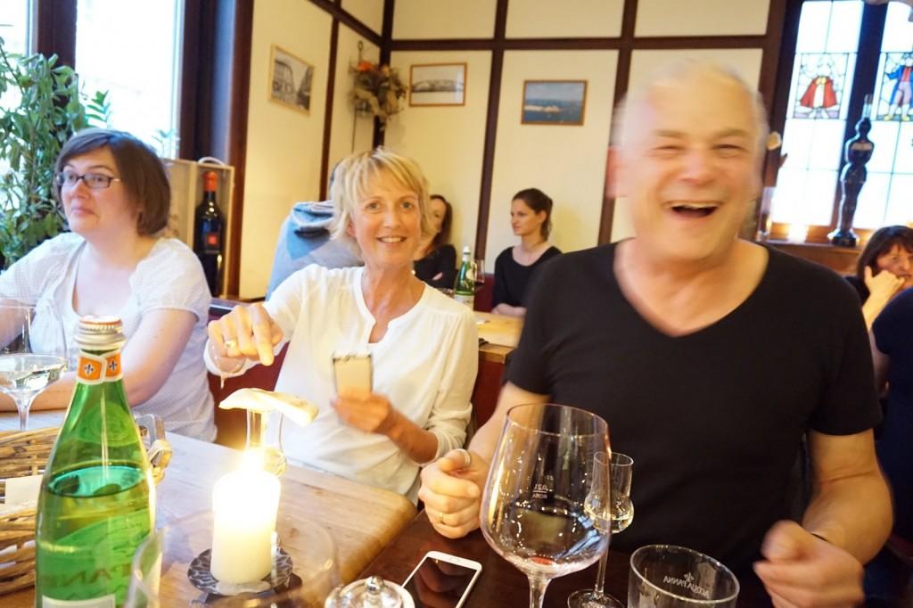 Noemi und Werner haben Spaß
