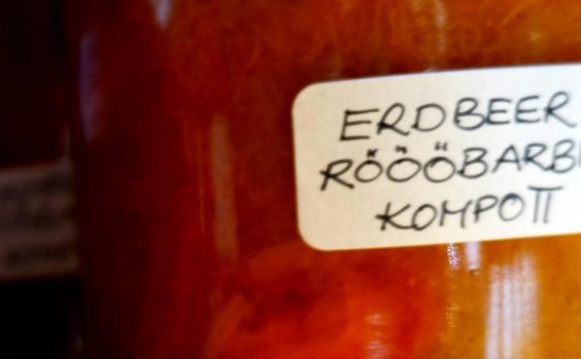 Röööbarber-Erdbeer-Kompott